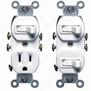 Leviton Combination Switch And Outlet Or Dual Switches