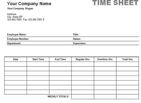 simple weekly timesheet printable weekly time sheet