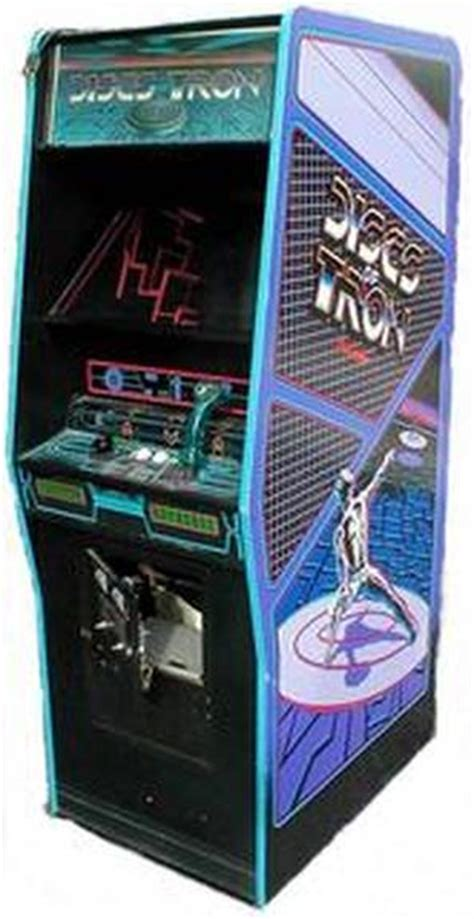upright discs  tron classic arcade cabinets