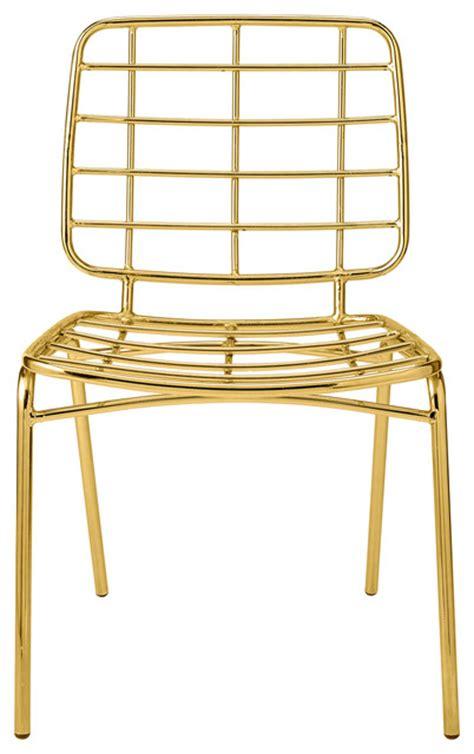 bloomingville chair metal gold seat modern dining