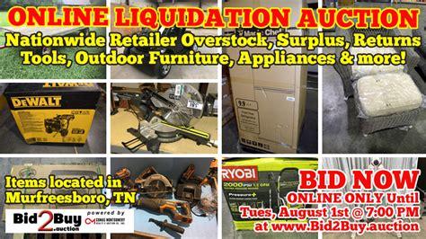 auction nationwide retailer overstock surplus liquidation