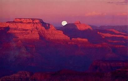 Canyon Grand Sunset Moon Breathtaking