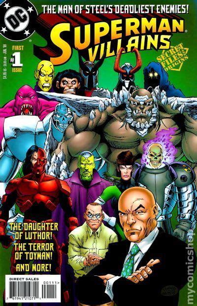superman villains secret files  comic books