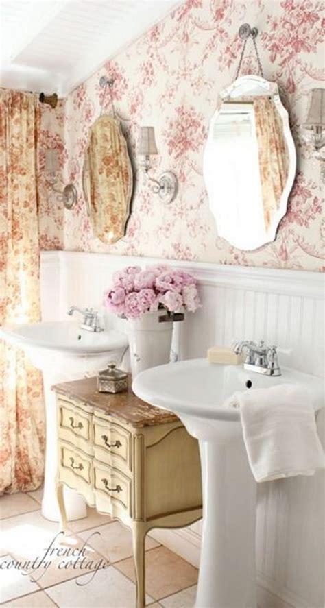 shabby chic bathroom wallpaper 50 amazing shabby chic bathroom ideas
