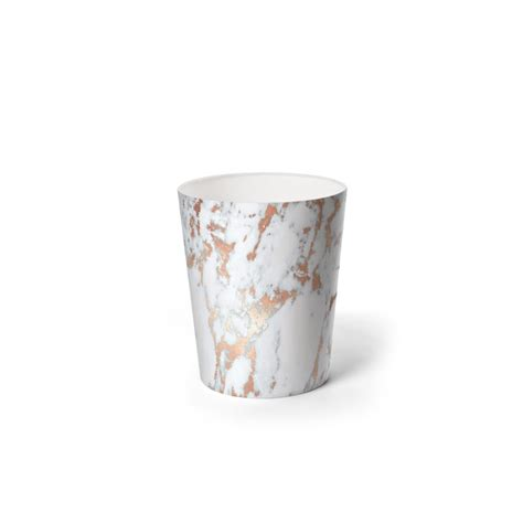 livingroom curtain rosegold marble waste paper bin