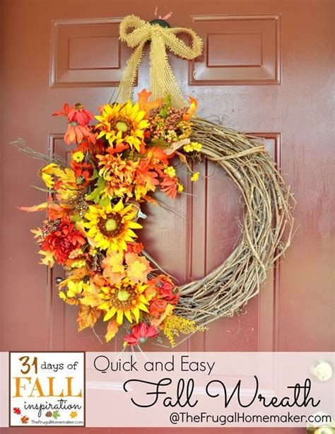 Best 25+ Easy Fall Wreaths Ideas On Pinterest  Diy Fall Wreath, Diy Wreath And Making Bows For