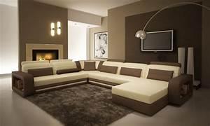 le salon d39angle cuir votre endroit chic preferee With tapis de sol avec canapé d angle cuir chocolat