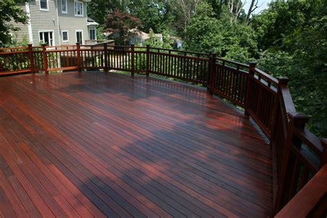 mahogany decks built  nashville deck contractors