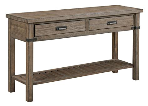 Rustic Weathered Gray Sofa Table By Kincaid Furniture