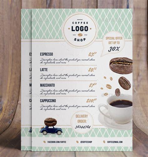 Coffee shop menu | modern design. 30 Modern Retro & Vintage Restaurant Menu Templates - Bashooka