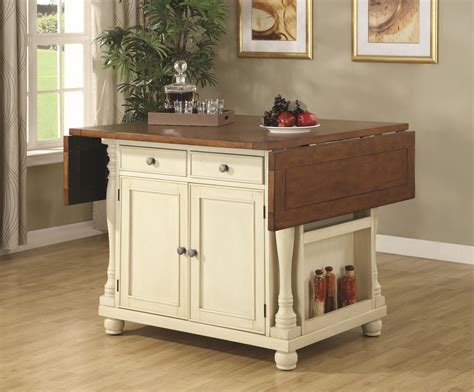 Coaster Kitchen Carts Twotone Kitchen Island With Drop