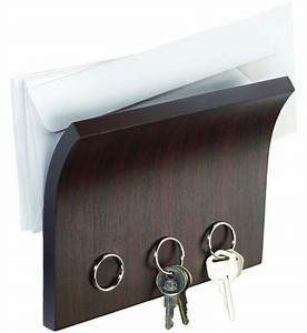 letter holder and magnetic key rack espresso in key With letter organizer and key rack