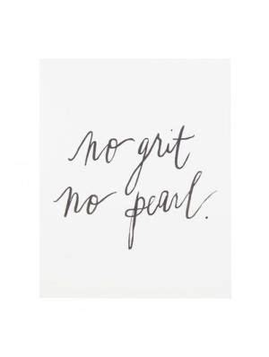 No Grit, No Pearl quote by deborah   Pearl tattoo, Pearl