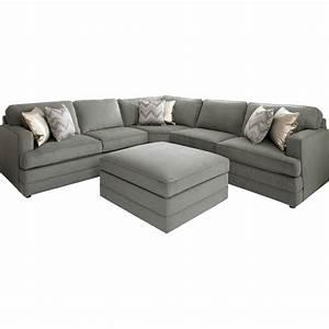 L Sofa : bassett dalton l shaped sectional sofa with ottoman base ~ Pilothousefishingboats.com Haus und Dekorationen