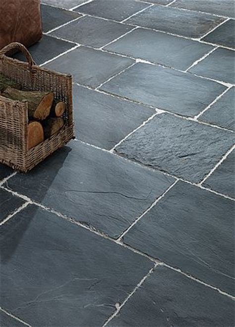 Rustic Black Slate Tiles, External Stone floor tiles