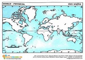 Kids Science Projects - World Physical Map
