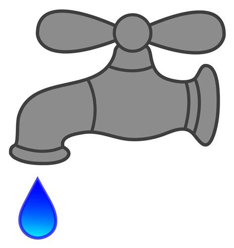 water faucet dripping  clip art