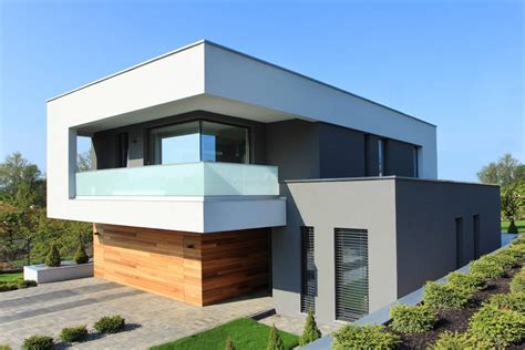 Modernes Haus Weiß by Homify 360 176 Nowoczesny Dom W Gorzowie Wielkopolskim