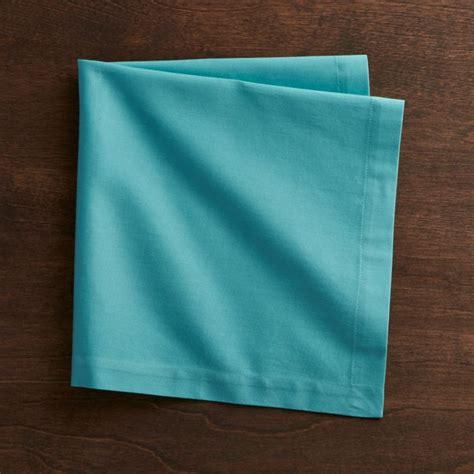 fete aqua blue cloth napkin reviews crate  barrel