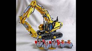 Lego excavator with electric drill hammer - YouTube