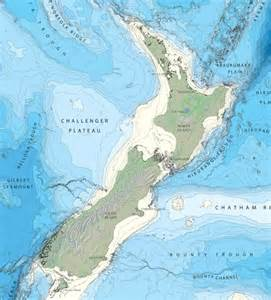 Bathymetric Map New Zealand