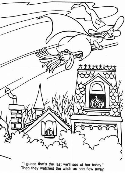 Halloween Coloring Travessuras Witch Flying Treat Gostosuras