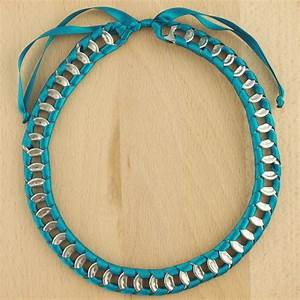 collier canettes recycles buho turquoise latino fait main With bijoux fait main