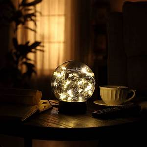 Decorative, Fairy, Night, Light, Xy, Decor, 6, 5, U0026quot, Dual, Power, Operated, Glass, Ball, Sphere, With, Warm