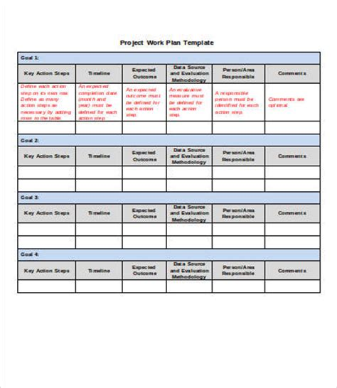 project plan template project plan template word 10 free word documents free premium templates