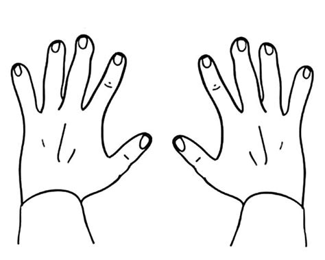 finger numbers hands coloring pages  place  color