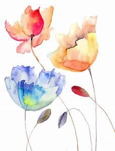 Beautiful Summer Flowers Painting by Regina Jershova