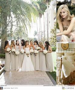 Champagne colored bridesmaid dresses, Champagne and ...