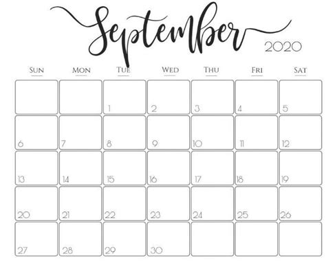 cute september  calendar   calendar printables
