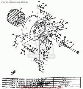 Yamaha Ycs1 1968 Usa Starter Generator  Hitachi