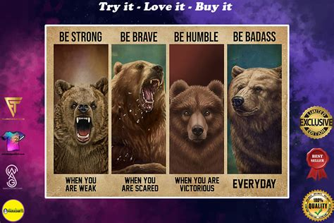 [Top-selling item] vintage bear be strong when you are ...