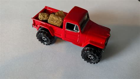 custom willys jeepster 3inchdiecastbliss custom jeep willy 39 s 4x4 with hay bales