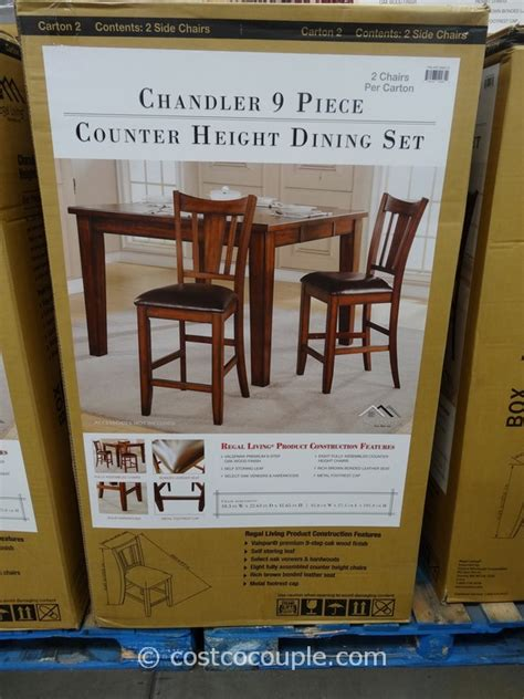 regal living chandler piece counter height dining set