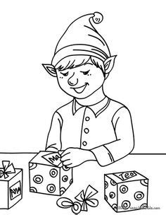Coloring Xms Gift Wrap by Colouring Page