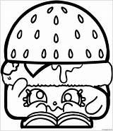 Coloring Hamburger Shopkins Burger Andr Coloringhome Printable Popular Drive2vote sketch template
