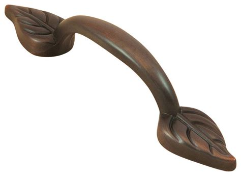 Leaf Cabinet Pulls by Mill Hardware Rubbed Bronze Leaf Cabinet