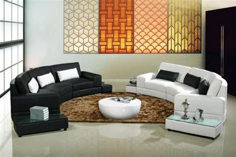 wunderschoene vorschlaege fuer ein halbrundes sofa