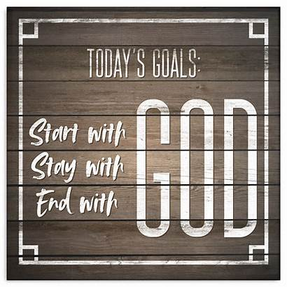 God Start Goals Today Canvas Premium Bible