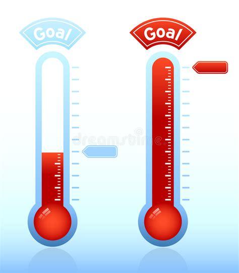 thermometre de chambre b thermomètre de but de collecteur de fonds illustration de