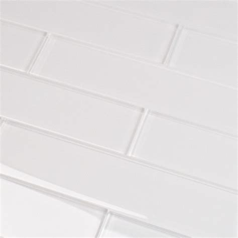 2x8 Subway Tile White by Shop For Loft White 2x8 Polished Glass Tiles At