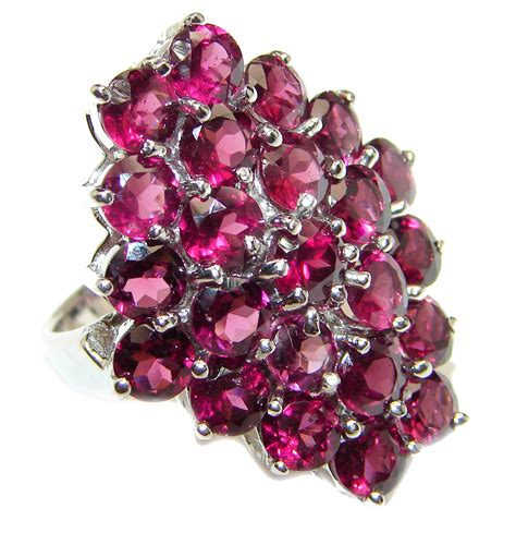 Dazzling natural Red Garnet & .925 Sterling Silver ...
