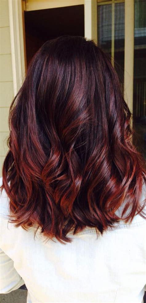 hair highlights teinture acajou cheveux couleur acajou plus hair makeup in 2019 cabello