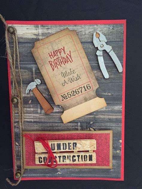 masculine birthday card handyman card handmade card
