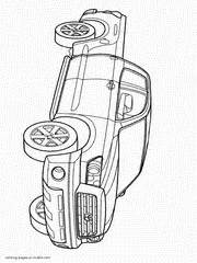 pickup truck coloring pages  printable pictures