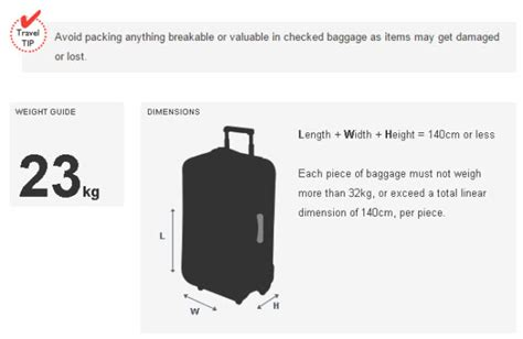 aircraft cabin luggage size australia new baggage allowance flight centre