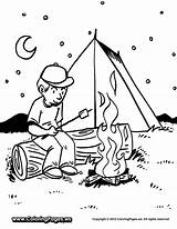 Camping Coloring Pages Printable Camp Getcoloringpages Summer sketch template